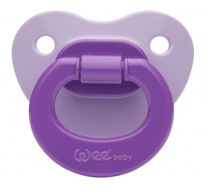 Wee Baby Renkli Damaklı Emzik Mor No:1 Kod: 841