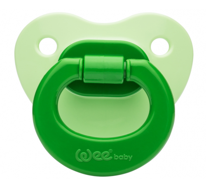 Wee Baby Renkli Damaklı Emzik Yeşil No:1 Kod: 841