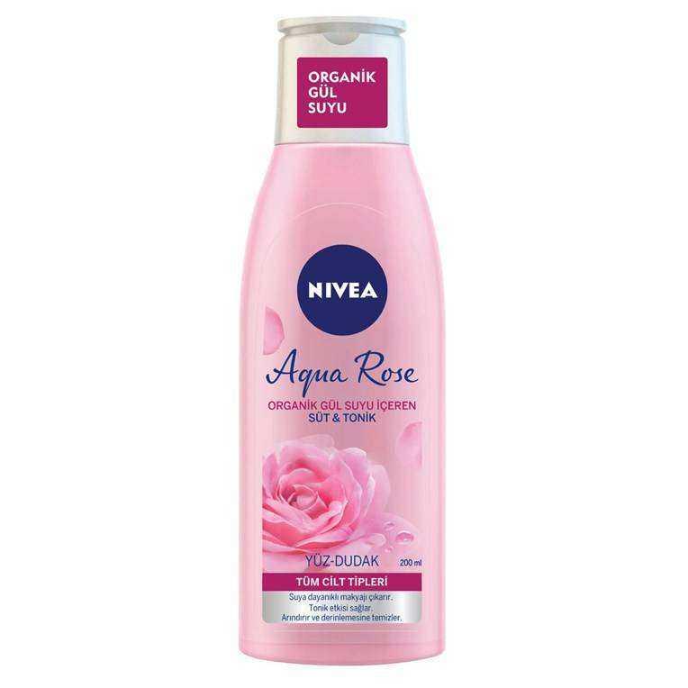 Nivea MicellAir Skin Breathe Gül Suyu İçeren Süt & Tonik Tüm Cilt Tipleri (Yüz & Dudak)  200 ML