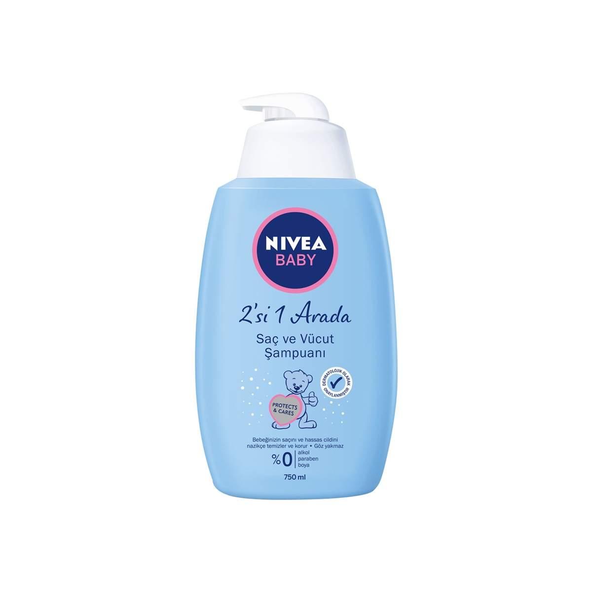 Nivea Baby 2si 1 Arada Saç ve Vücut Şampuanı 750 ML