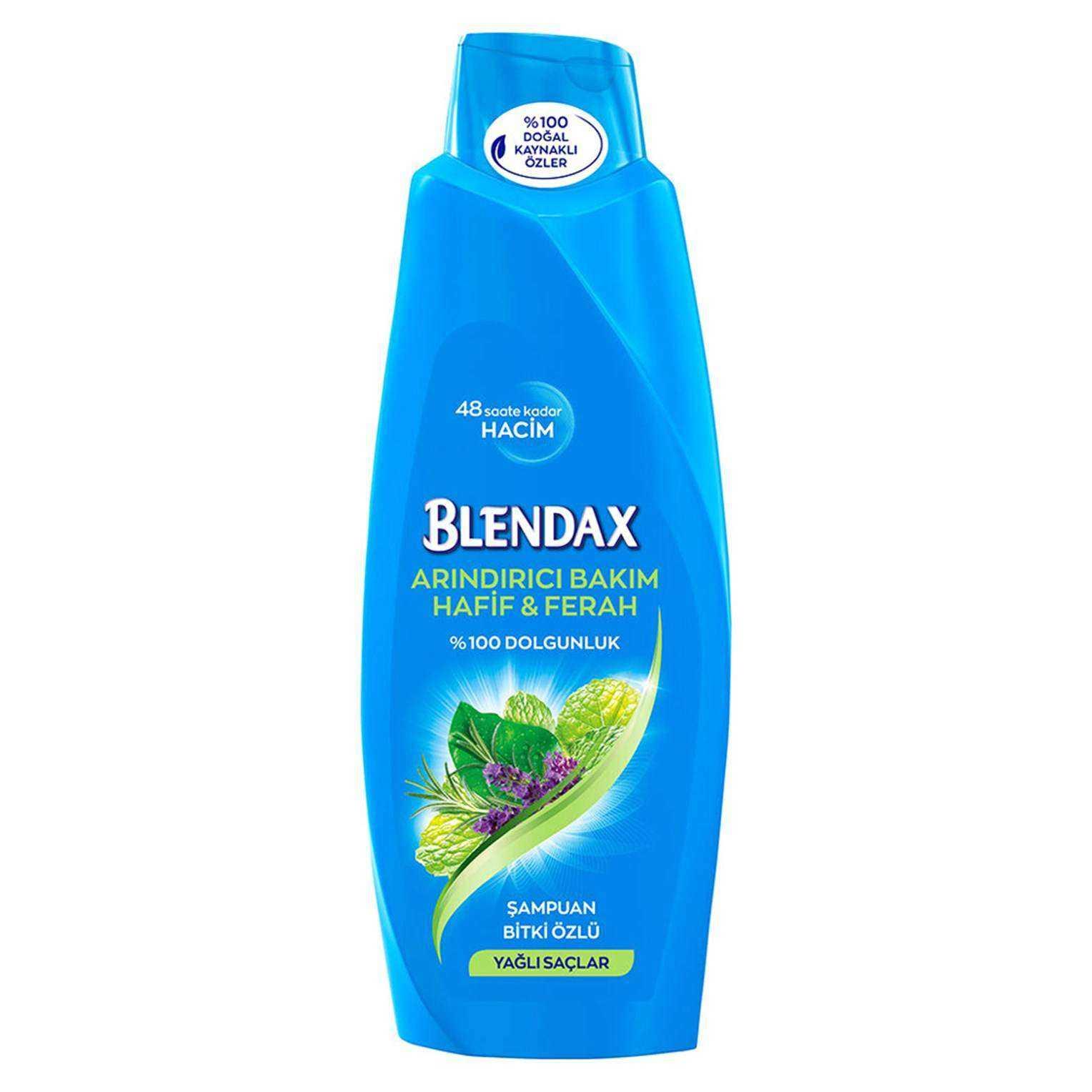 Blendax Arındırıcı Bakım Hafif & Ferah Bitki Özlü Şampuan - Yağlı Saçlar 500 ML